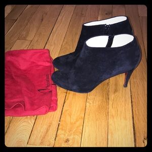 Christian Louboutin Belle 85 Suede Booties